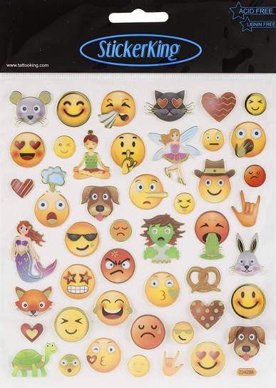 Emojis Shiny Scrapbooking Stickers