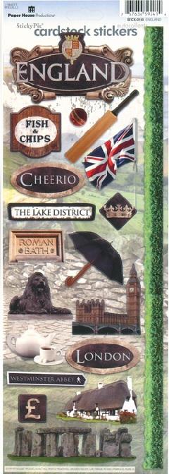 England Cardstock Scrapbooking Stickers