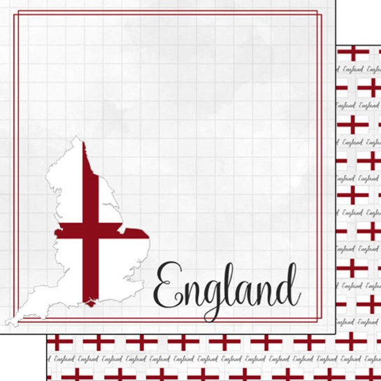 England 12x12 Double Sided Scrapbooking Paper