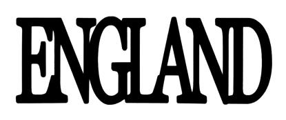 England Scrapbooking Laser Cut Title