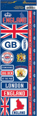 England Cardstock Scrapbooking Stickers and Borders