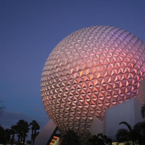 Epcot Theme Park Ball 12x12 Scrapbooking Paper