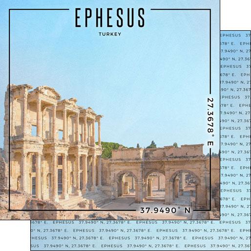 Ephesus 12x12 Double Sided Scrapbooking Paper