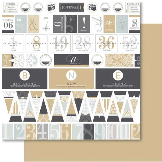 East Coast Essence 12x12 Double Sided Scrapbooking Paper