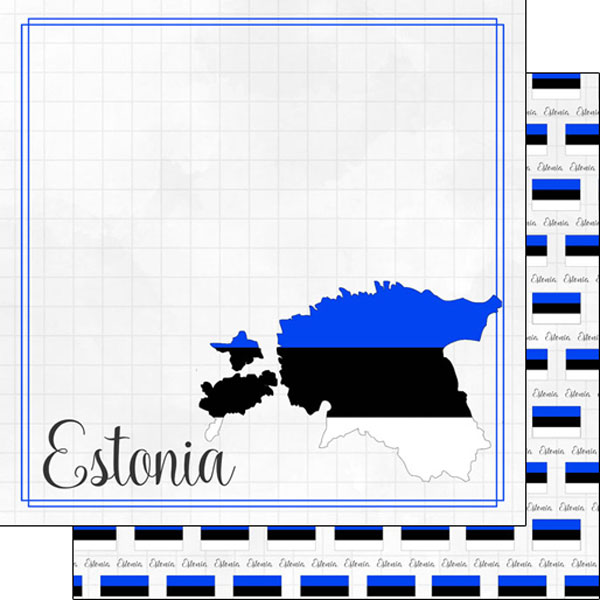 Estonia 12x12 Double Sided Scrapbooking Paper