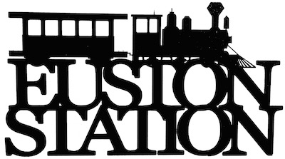 Euston Station Scrapbooking Laser Cut Title with Train