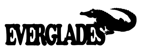 Everglades Scrapbooking Laser Cut Title with Alligator