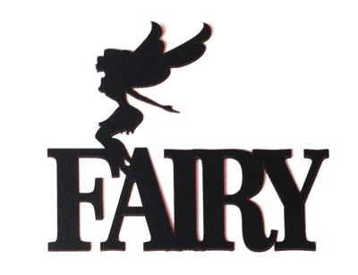 Fairy Scrapbooking Laser Cut Title with fairy