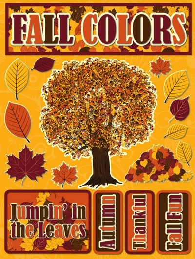 Fall Colours 3D Scrapbooking Stickers