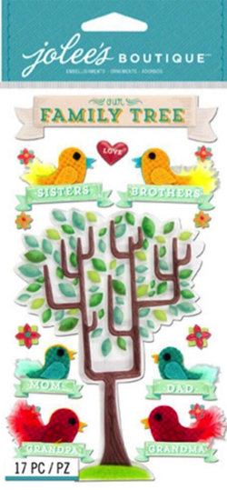 Family Tree Jolees 3D Scrapbooking Stickers