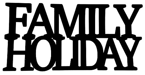Family Holiday Scrapbooking Laser Cut Title