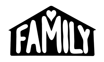 Family Scrapbooking Laser Cut Title in House