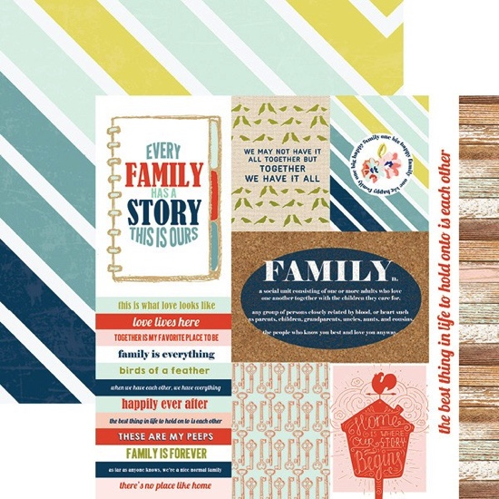 Family Tags 12x12 Double Sided Scrapbooking Paper