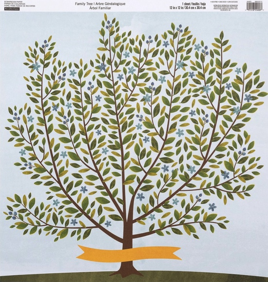 Family Tree 12x12 Scrapbooking Paper