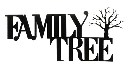Family Tree Scrapbooking Laser Cut Title with Tree