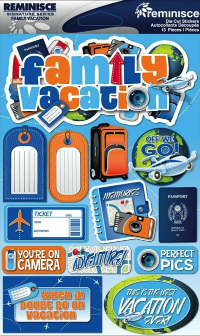 Family Vacation 3D Scrapbooking Stickers