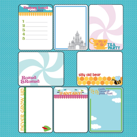Fantasy Land 12x12 Scrapbooking Journaling Paper