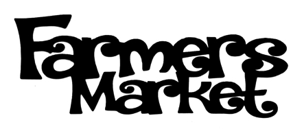 Farmers Market Scrapbooking Laser Cut Title