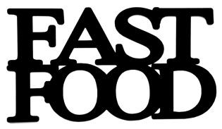 Fast Food Scrapbooking Laser Cut Title