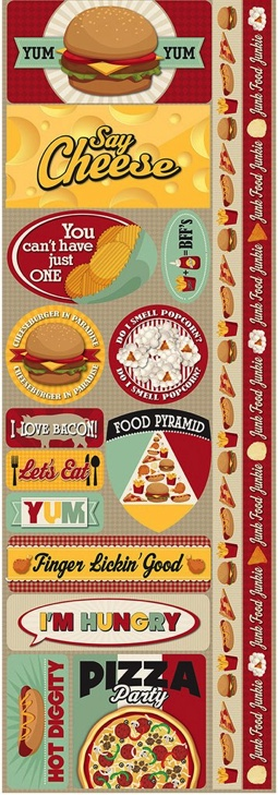 Fast Food Cardstock Scrapbooking Stickers and Borders