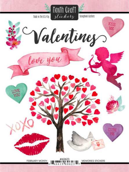 February Memories Scrapbooking Stickers