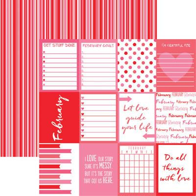 Plan it February 12x12 Double Sided Scrapbooking Paper
