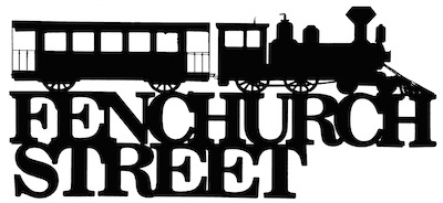 Fenchurch Street Scrapbooking Laser Cut Title with Train