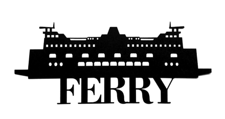 Ferry Scrapbooking Laser Cut Title with Ferry