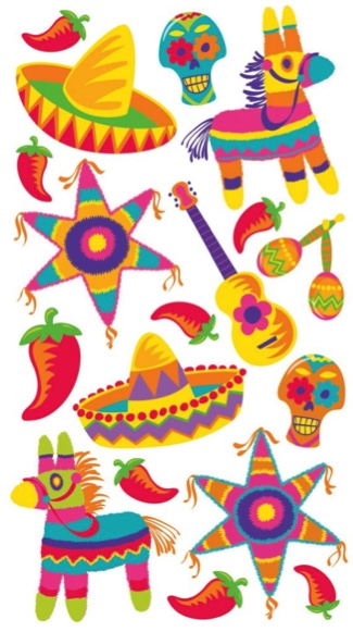 Fiesta Scrapbooking Stickers