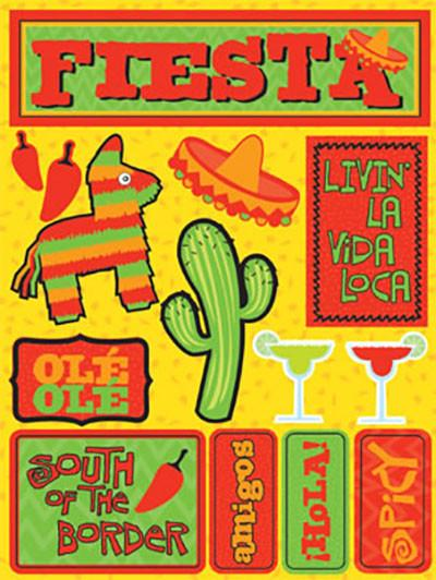 Fiesta 3D Scrapbooking Stickers