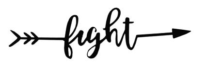 Fight Arrow Scrapbooking Laser Cut Title