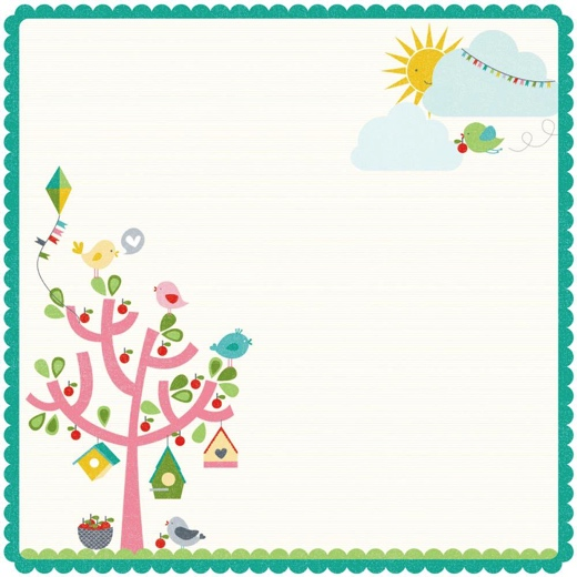 Fine and Sunny 12x12 Die Cut Scrapbooking Paper