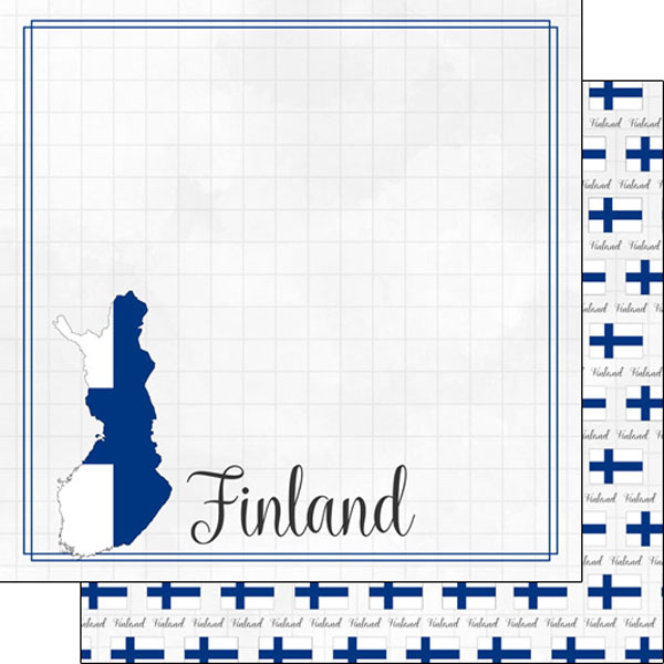 Finland 12x12 Double Sided Scrapbooking Paper