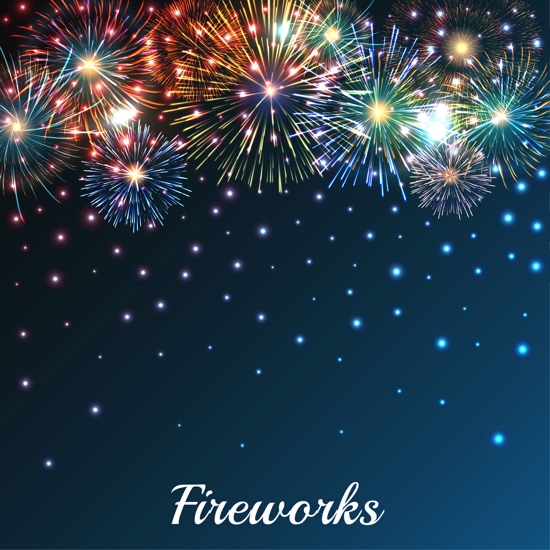 Colourful Fireworks 12x12 Scrapbooking Paper