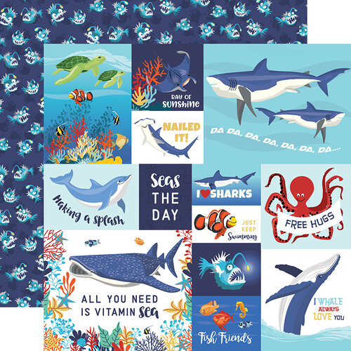Fish are Friends Cards Double Sided 12x12 Scrapbooking Paper