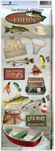 Fishing Cardstock Scrapbooking Stickers