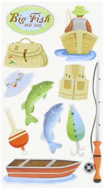 Fishing Scrapbooking Stickers