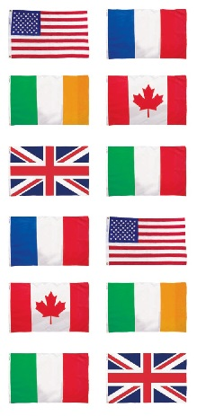 Flags Scrapbooking Mini Stickers