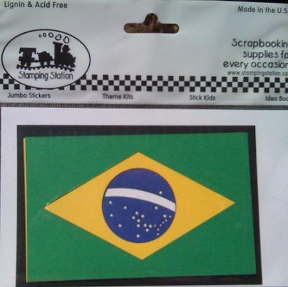 Brazil Precision Laser Layered Scrapbooking Flag