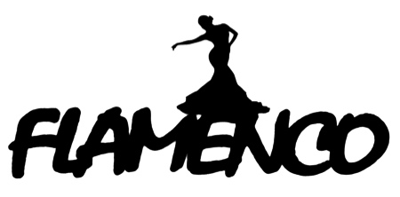 Flamenco Scrapbooking Laser Cut Title with Dancer