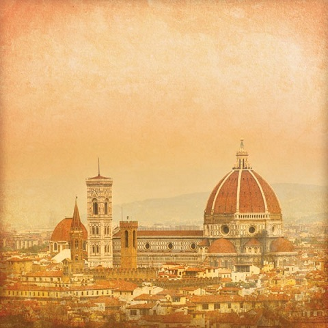 Florence Skyline 12x12 Scrapbooking Paper