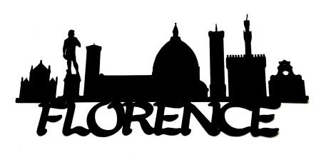 Florence Scrapbooking Laser Cut Title with Skyline