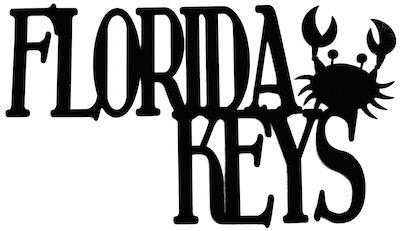 Florida Keys Scrapbooking Laser Cut Title with Crab