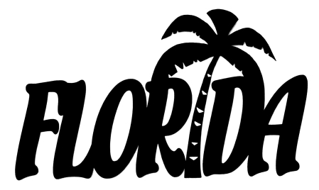 Florida Scrapbooking Laser Cut Title with Palm Tree