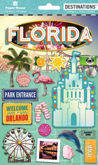 Florida 2D Scrapbooking Stickers