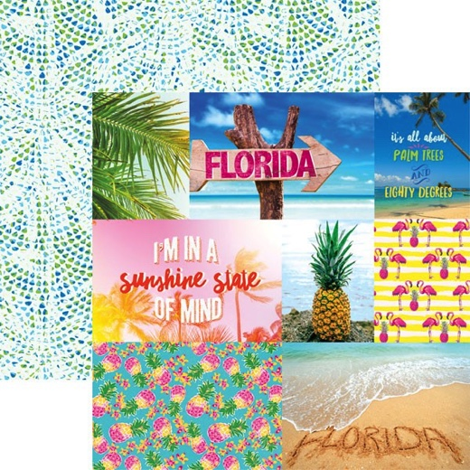 Florida Tags 12x12 Double Sided Scrapbooking Paper