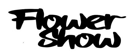 Flower Show Scrapbooking Laser Cut Title