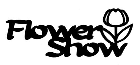 Flower Show with flower Scrapbooking Laser Cut Title