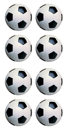 Footballs Scrapbooking Mini Stickers