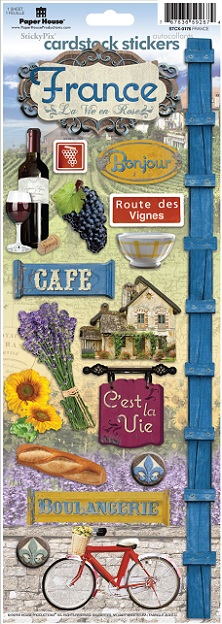 France Cardstock Scrapbooking Stickers